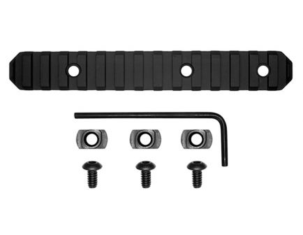 "GrovTec M-LOK Aluminum 15-Slot Picatinny Rail, 6"" L, Type III Anodized Black - GTSW239"