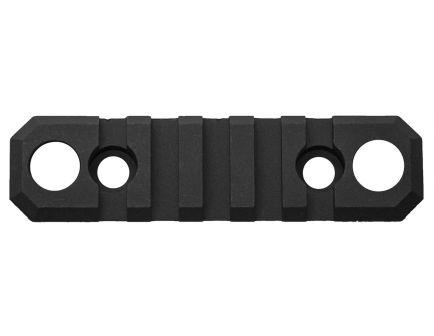 "GrovTec M-LOK Aluminum 5-Slot Picatinny Rail w/ Push Button Base, 3.5"" L, Type III Anodized Black - GTSW241"