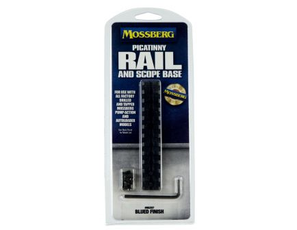 Mossberg Steel Standard 1-Piece Picatinny Rail/Scope Mount, Blue - 95207