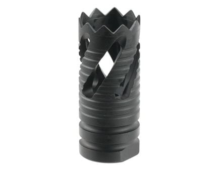 Tacfire 1/2-28 Thread Crown Style Muzzle Break, .223 Rem/5.56, Black Oxide - MZ1021