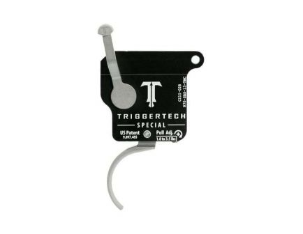 Triggertech Rem 700 Special Single-Stage Traditional Curved Right Hand Trigger w/o Bolt Release for Remington 700 Rifle, Stainless - R70SBS13TNC