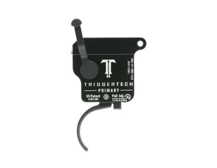 Triggertech Rem 700 Primary Single-Stage Traditional Curved Trigger w/ Bolt Release for Remington 700 Rifle, Black - R70SBB14TBC