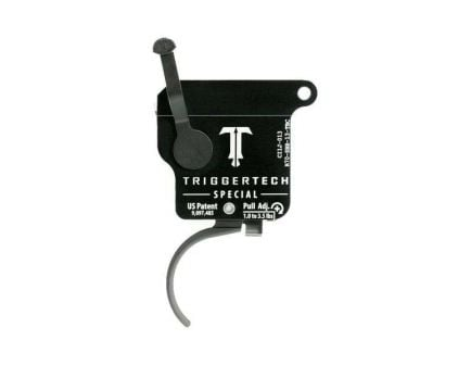 Triggertech Rem 700 Special Single-Stage Traditional Curved Trigger w/ Bolt Release for Remington 700 Rifle, Black - R70SBB13TBC