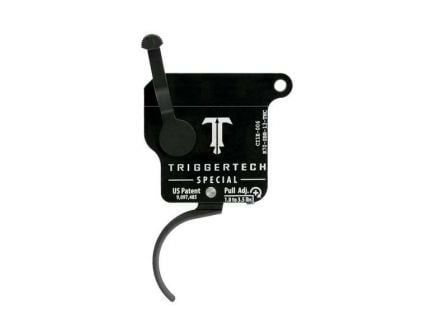 Triggertech Rem 700 Special Single-Stage Traditional Curved Right Hand Trigger w/o Bolt Release for Remington 700 Rifle, Black - R70SBB13TNC