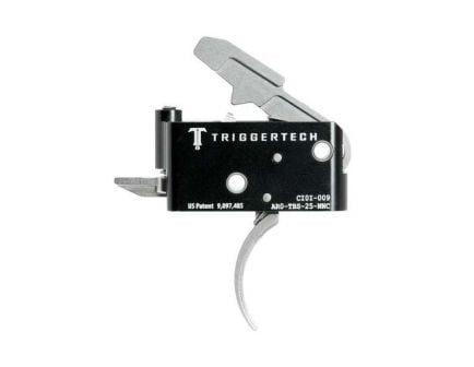 Triggertech Adaptable AR Primary Short 2-Stage Traditional Curved Trigger w/ Bolt Release for AR Bolt Action Rifle, Stainless - AROTBS25NNC