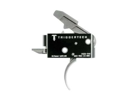 Triggertech Competitive AR Primary Short 2-Stage Traditional Curved Trigger w/ Bolt Release for AR Bolt Action Rifle, Stainless - AR0TBS33NNC