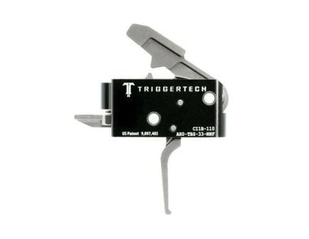 Triggertech Competitive AR Primary Short 2-Stage Flat Trigger w/ Bolt Release for AR Bolt Action Rifle, Stainless - AR0TBS33NNF