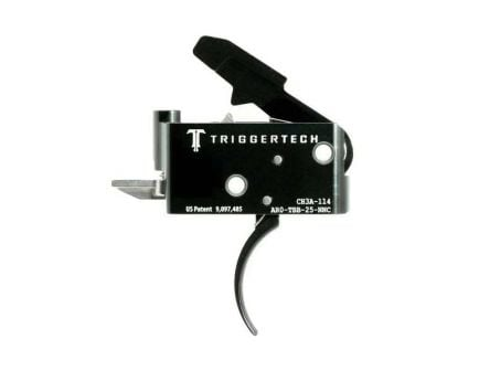 Triggertech Adaptable AR Primary Short 2-Stage Traditional Curved Trigger w/ Bolt Release for AR Bolt Action Rifle, Black - AROTBB25NNC