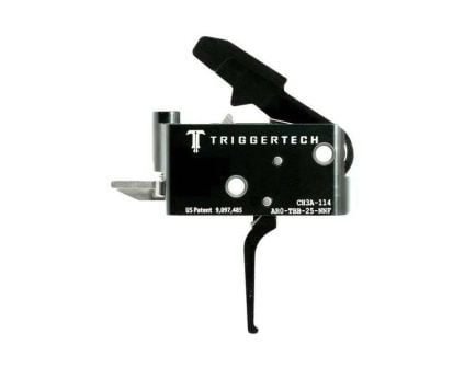 Triggertech Adaptable AR Primary Short 2-Stage Flat Trigger w/ Bolt Release for AR Bolt Action Rifle, Black - AROTBB25NNF