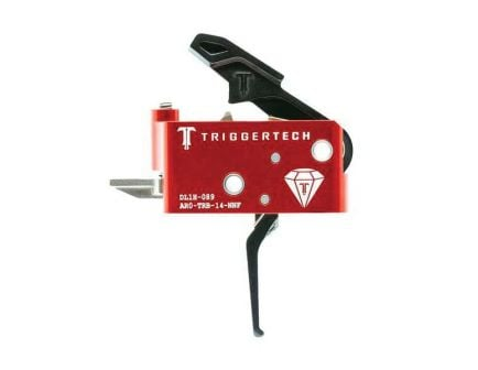 Triggertech AR Diamond 2-Stage Flat Trigger w/ Bolt Release for AR Rifle, Black - AROTRB14NNF