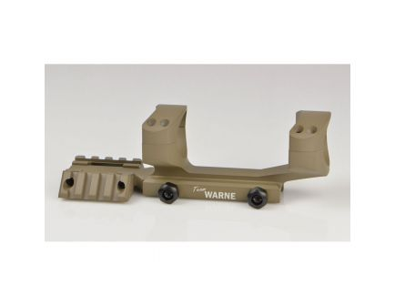 Warne Scope Mounts R.A.M.P AR 30mm Ultra High Aluminum 1-Piece Tactical Scope Mount, Dark Earth - RAMP30DE