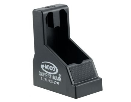 ADCO Super Thumb Double Stack 9mm/.40 S&W Polymer Magazine Loader, Black - ST1