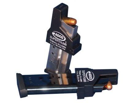 ADCO Super Thumb Single Stack 9mm/.40 S&W/.45 ACP Polymer Magazine Loader, Black - ST3