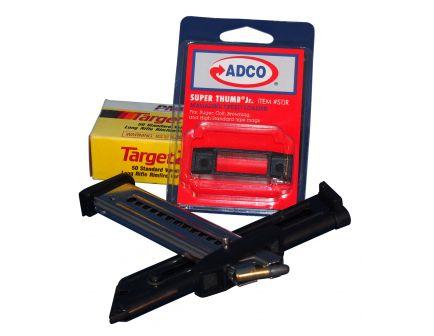 ADCO Super Thumb Junior Ruger/Colt/Browning/High Standard/S&W Mod 22A/S .22lr Polymer Magazine Loader, Black - STJR