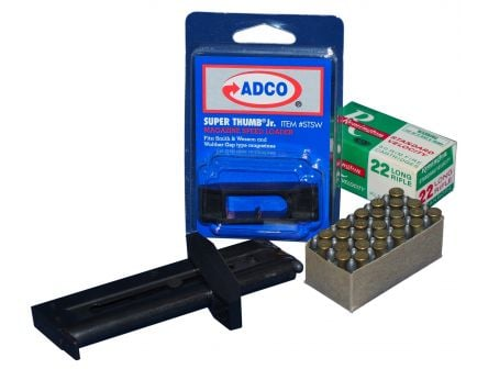 ADCO Super Thumb Junior S&W Mod 41/Victory/Walther GSP .22lr Polymer Magazine Loader, Black - STSW