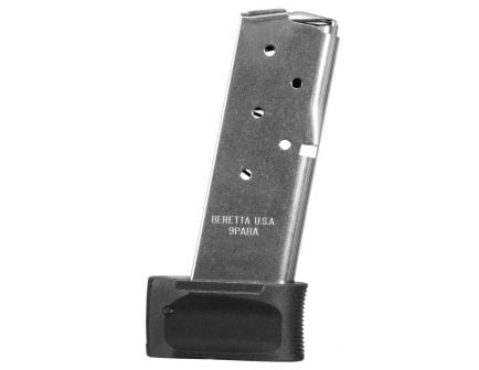 Beretta APX Carry Extended Floor Plate for 9mm 6 Rd, Black - JFAPXCARRY6EXT