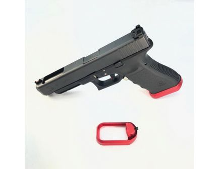 Cross Armory Flared Magwell for Glock Gen 1 to 3 Pistols, Red - CRGFMWRD