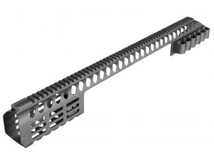 "Aim Sports M-LOK 24.9"" 6061 T6 Aluminum 7-Rows Modular Rail System, Black - MTMSG870"