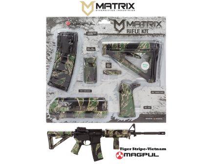 Matrix Diversified Industry Mil-Spec Magpul MOE Furniture Kit, Vietnam Tiger Stripe Green Camo - MAGMIL04TS