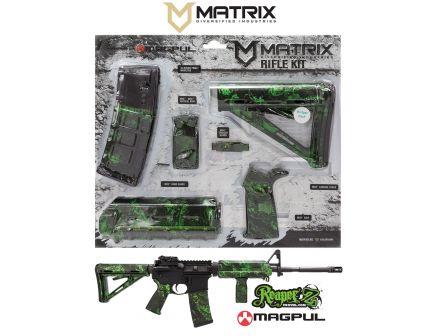 Matrix Diversified Industry Mil-Spec Magpul MOE Furniture Kit, Proveil Reaper Zack Green Camo - MAGMIL05ZG