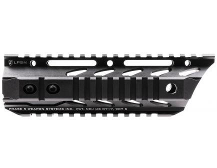 "Phase 5 Lo-Pro Slope Nose 15"" 6061 T6 Aluminum Quad Rail, Hard Anodized Black - LPSN7.5"