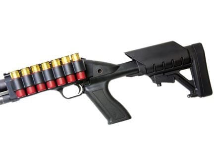 ProMag Archangel Mossberg 500/590 Polymer Tactical Stock System w/ Shell Carrier, Black - AA500-SC