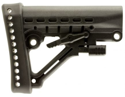 Mission First Tactical Archangel Polymer Heavy-Duty Collapsible Buttstock, Black - AA120