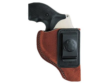 """Bianchi Model 6 Right Hand 2"""" to 3"""" Colt Ruger Ultra Lightweight Inside-The-Waistband Holster, Rust Suede Tan - 10376"""
