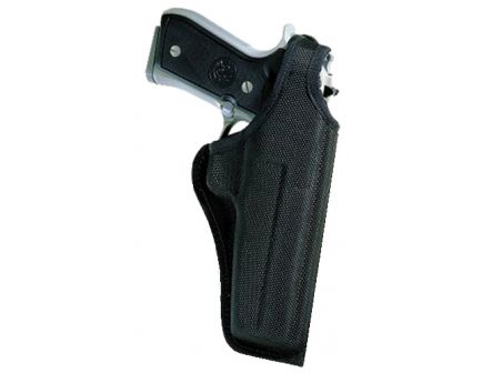 """Bianchi 7001 Thumbsnap Right Hand 4"""" S&W 19/586 Hip Holster w/ Thumbsnap Closure, Textured Black - 17745"""