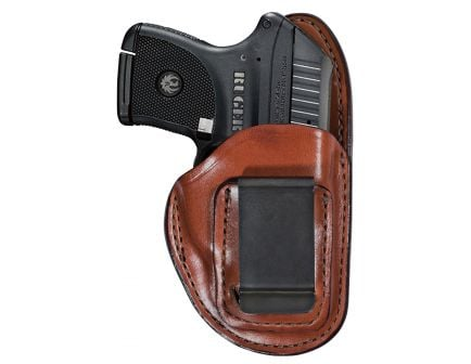 Bianchi 100 Professional Right Hand Colt Pony .380/Mustang/Govt Inside-The-Waistband Holster, Plain Tan - 19224