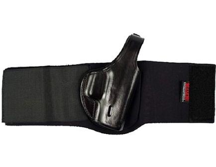 "Bianchi 150L Negotiator Right Hand S&W J Frame Ankle Holster w/ 3"" Strap, Plain Black - 24834"