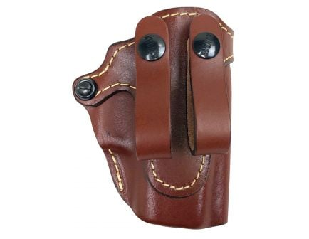 Hunter Company Pro-Hide Right Hand Glock 43 Inside-The-Waistband Open Top Holster, Brown - 470045