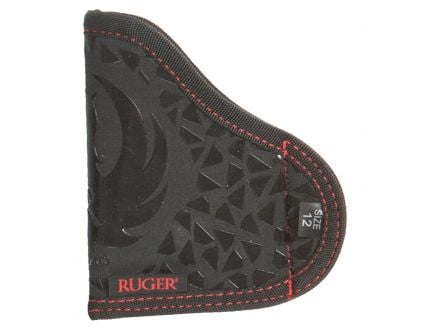Allen Size 12 Right Hand Ruger LCP/LCP II Stash Holster, Black/Red - 27212