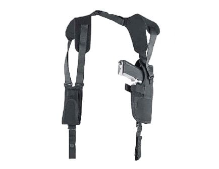 "Uncle Mike's Pro Pak Size 5 Right Hand 4.5"" to 5"" Large Autos Vertical Shoulder Holster, Textured Black - 75051"
