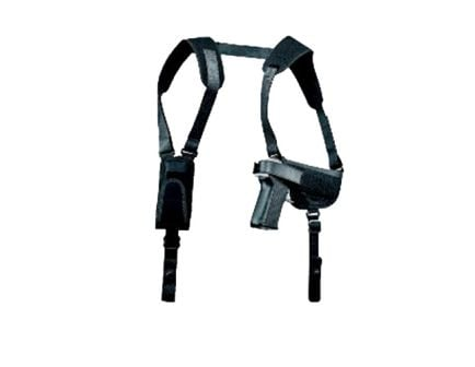 """Uncle Mike's Pro Pak Size 2 Right Hand 4"""" Medium/Intermediate Autos Horizontal Shoulder Holster, Textured Black - 77020"""