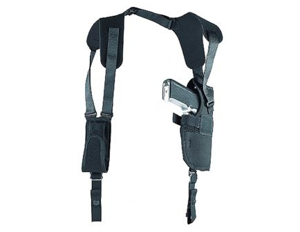 """Uncle Mike's Sidekick Size 5 Left Hand 4.5"""" to 5"""" Large Autos Vertical Shoulder Holster, Textured Black - 83052"""
