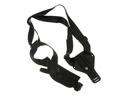 """Uncle Mike's Sidekick Size 4 Ambidextrous Hand Scoped 7"""" to 8.5"""" Medium/Long Autos Vertical Shoulder Holster, Textured Black - 85041"""