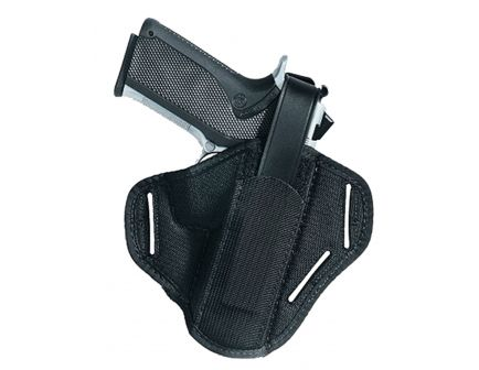 """Uncle Mike's Hiddenhammer Super Size 15 Ambidextrous Hand 3.75"""" to 4.5"""" Large Autos Holster, Textured Black - 86150"""