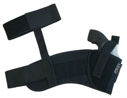 "Uncle Mike's Size 16 Right Hand 3.25"" to 3.75"" Medium/Large Autos Ankle Holster, Textured Black - 88161"