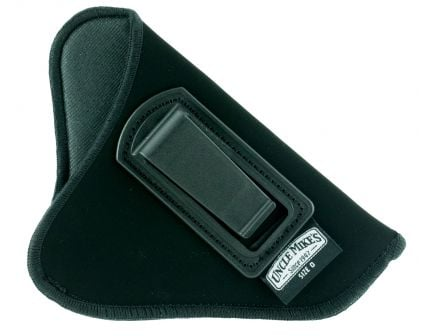 "Uncle Mike's Size 0 Right Hand 2"" to 3"" Small/Medium Autos Inside-The-Pant Open Style Holster, Textured Black - 89001"