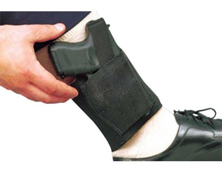 DeSantis Gunhide Apache Ankle Rig Right Hand Colt Government .380 Holster, Smooth Black - 062BASAZ0