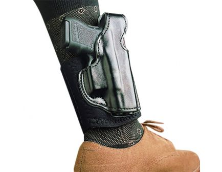 DeSantis Gunhide Die Hard Ankle Rig Right Hand S&W Bodyguard .380 Concealment Holster, Smooth Black - 014PCU7Z0