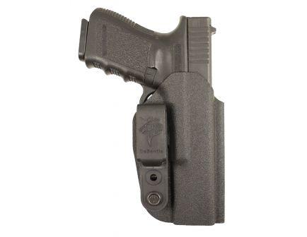 DeSantis Gunhide Slim-Tuk Ambidextrous Hand S&W M&P Shield 9mm/.40 Inside-The-Waistband Holster, Plain Black - 137KJX7Z0