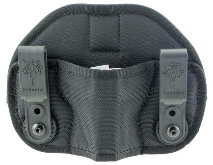 DeSantis Gunhide Vanquisher Ambidextrous Hand Small/Medium Frame Auto Inside-The-Waistband Holster, Black - M71BJG1Z0