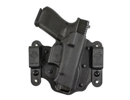 DeSantis Gunhide Intruder 2.0 Right Hand Glock 17 Gen 5 Inside/Outside the Waistband Holster, Smooth Black - 176KAB2Z0