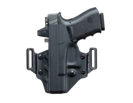 Crucial Concealment Covert Ambidextrous Hand Glock 17 Outside-The-Waistband Holster, Black - 1000