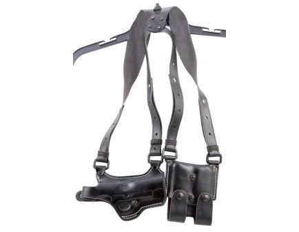 El Paso Saddlery Spyder Right Hand S&W M&P Horizontal Complete Rig Shoulder Holster System, Black - SPMP40RB