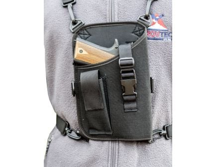 "GrovTec Trail Pack Right Hand 4.5"" to 5"" Large Semi Autos Shoulder Holster, Textured Black - GTHL14905R"
