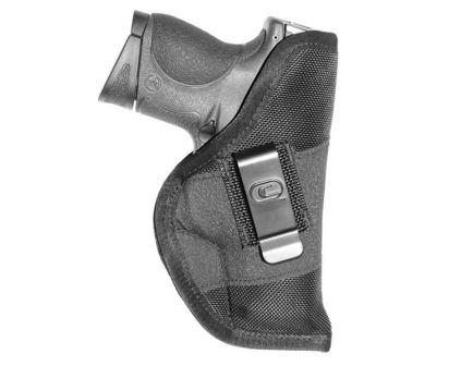 """GSM Outdoors The Grip Clip Small Ambidextrous Hand 3"""" to 3.5"""" Compact Low-Profile Inside-The-Waistband Conceal Carry Holster, Textured Black - CRF-GRPCLPSA1C-3"""