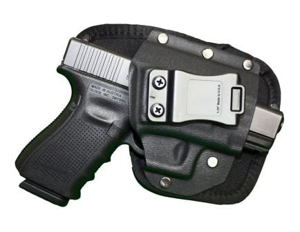 """GSM Outdoors The EDC Right Hand 2"""" to 2.5"""" Sub-Compact Inside-The-Waistband Conceal Carry Holster, Textured Black - CRF-EDCSA1SF-R"""